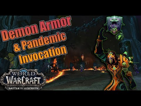 BFA - NEW 8.1 Warlock Trait Pandemic Invocation and the RETURN of Demon Armor! Deceptively Powerful?