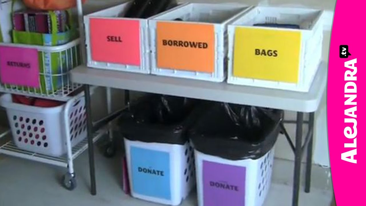 How to Organize Things That Are Leaving Your House - YouTube