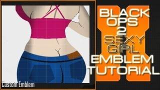 Sexy Girl Emblem Tutorial : Call Of Duty Black Ops 2 Emblems