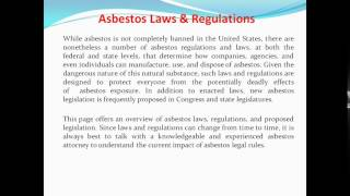 Asbestos Laws & Regulations
