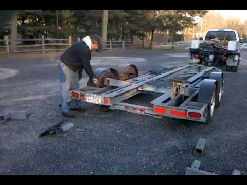 Commercial Boat Hauling Trailer Youtube