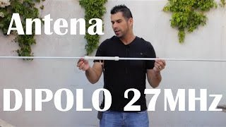 Repeat youtube video Antena Dipolo para 27 MHz.