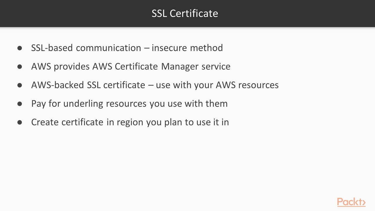 Aws administration database networking and beyond creating aws administration database networking and beyond creating ssl certificates packtpub xflitez Gallery