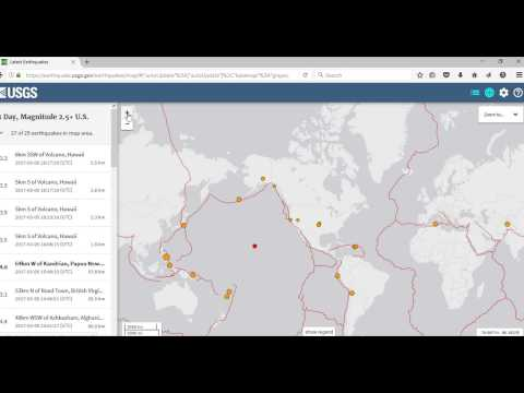 Plotting Earthquakes Real Time USGS