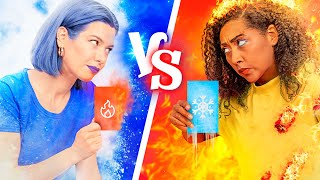 Hot vs Cold Challenge / I Dare You Challenge!