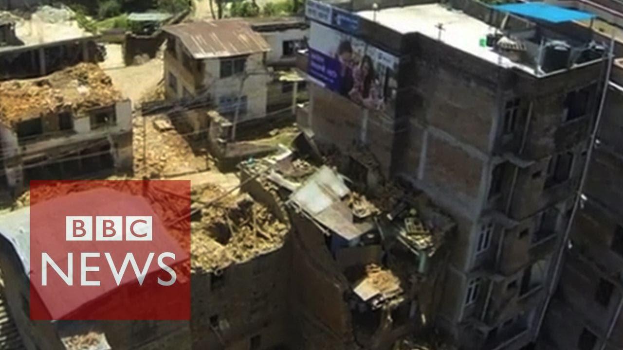 Nepal Earthquake: Drone video reveals  huge devastation  -BBC News
