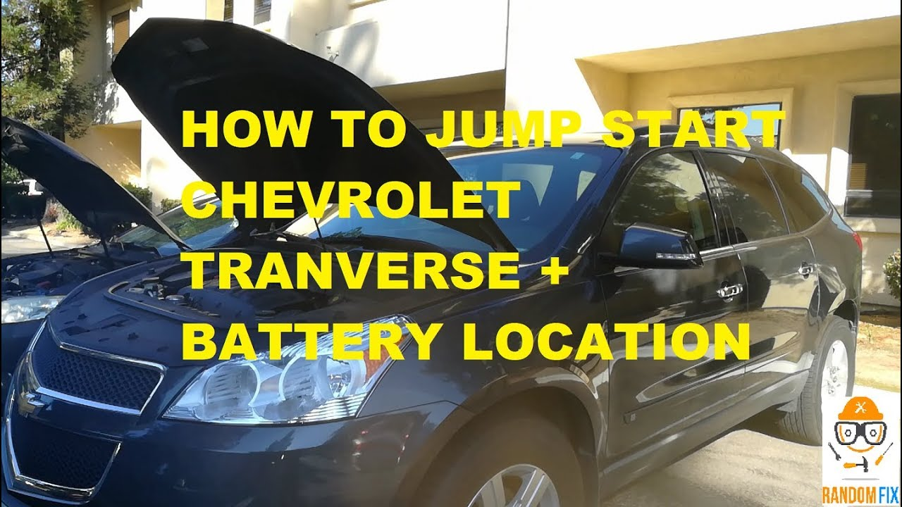 hight resolution of  chevrolet traverse how to jump start 2010 2011 2012 2013 2014 battery location