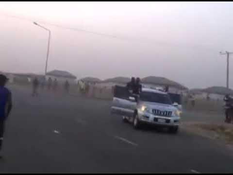 Prado drift crash