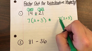 Factoring Out with tнe Distributive Property