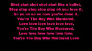 Diana Vickers The Boy Who Murdered Love Lyrics