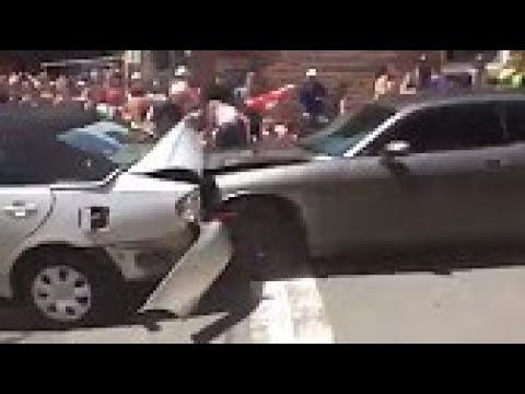 WARNING GRAPHIC Video CAR DRIVES INTO CROWD Of PROTESTERS VIRGINIA WHITE SUPREMACY PROTEST 18+ VIEW