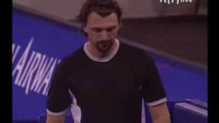 Kiss on cheek from Ivanisevic
