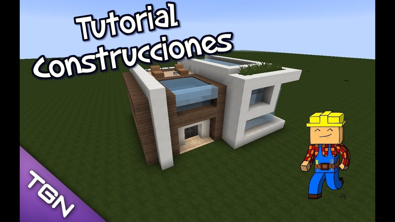 Minecraft como hacer una casa moderna 2 youtube for Casa moderna tutorial facil de hacer