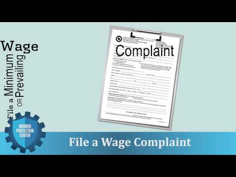 Worker Protection Center: File a Wage Complaint