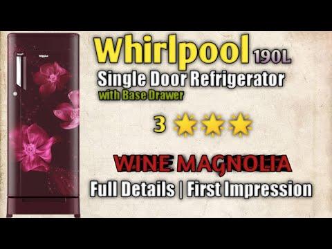 Whirlpool 190L 3 Single Door Refrigerator WINE MAGNOLIA Details & First Impression