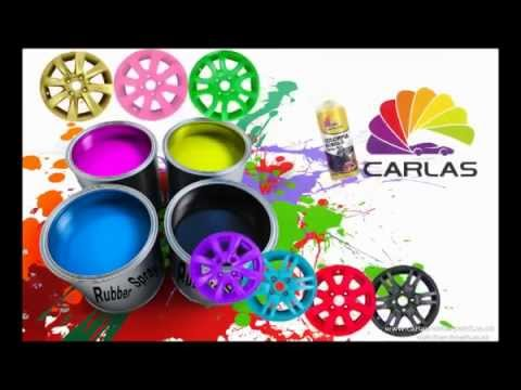 Carlas Rubber Spray Paint , Peelable Film of Paint, Great for Alloy Wheels