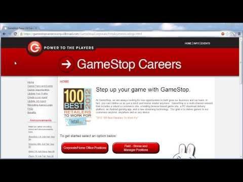 GameStop Application Online Video