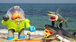 상어잡이 로봇과 뽀로로 조종사 상어가족과 결투를 벌이다! 옥토넛 장난감 모래놀이! Toy Shark Doll and Octonauts Season4 Toys