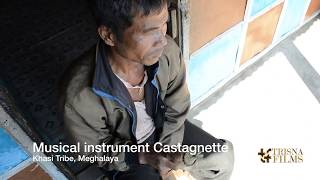 Khasi tribe Castagnette music instruments in Meghalaya, North East India.