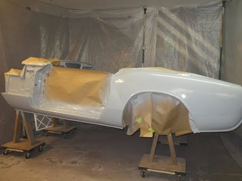 Spraying Epoxy Primer - Driver's Side Body - Roundtail Restoration