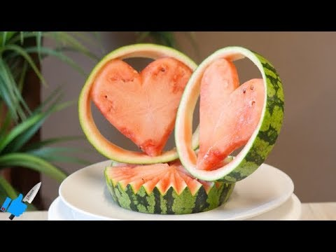 HOW TO CUT WATERMELON FOR YOUR LOVE | Carving Watermelon