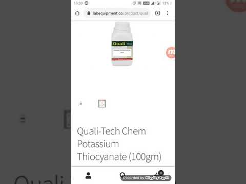 Potassium Thiocyanate Uses, Purchase Lab Chemicals From Our Store Or Amazon