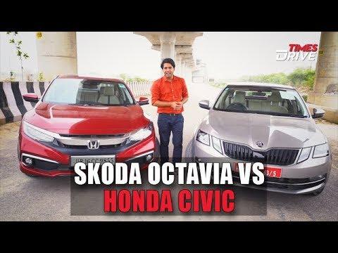 Honda Civic VS Skoda Octavia : The Battle of premium sedans   Which one is better?   Times Drive