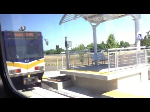 Riding Sacramento Light Rail Outbound Meadowview To Cosumnes River College Blue Line