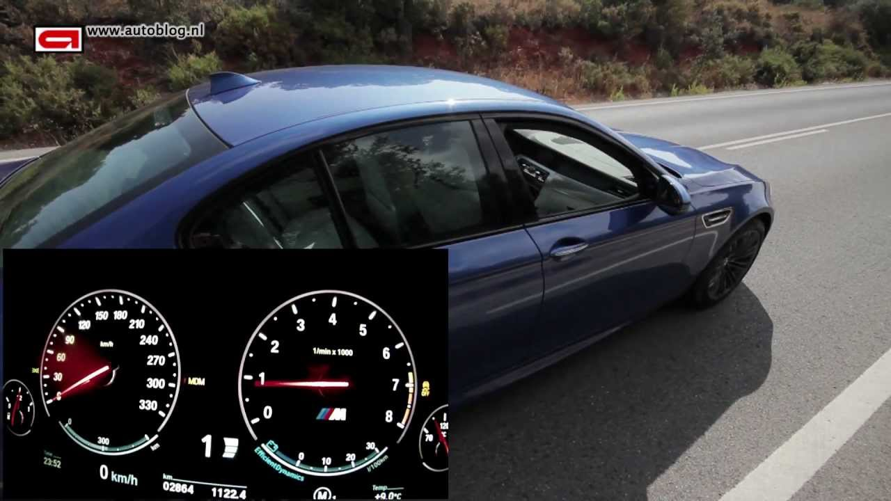 New BMW M5 (2012) topspeed - YouTube