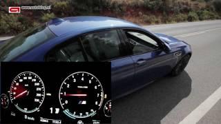 New BMW M5 (2012) topspeed