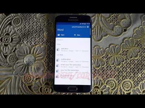 Microsoft Word For Android : How To Change Font Style On Samsung Galaxy S6