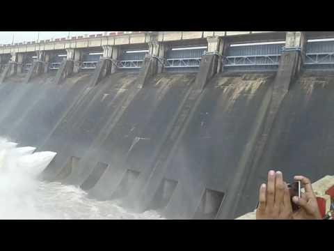 Hirakud dam gate opening