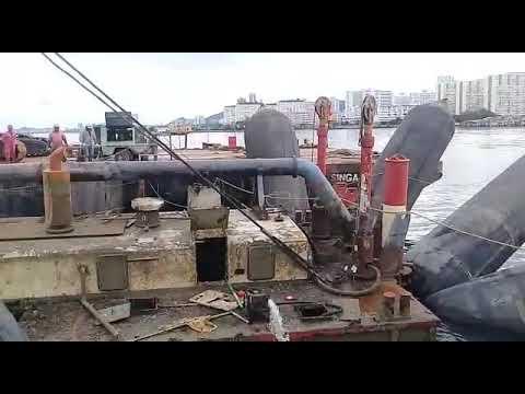 Marine salvage dredging Haruman yu by singa Kbh industries Penang ..