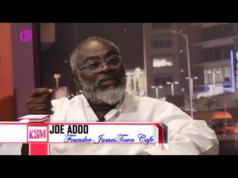 KSM Show- Joe Osae-Addo, the founder of Jamestown cafe, hanging out with KSM
