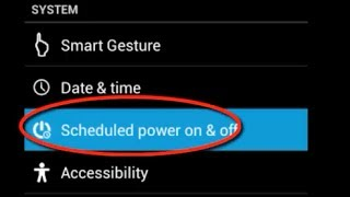 How To Schedule power on/off in android mobile phone: By this setti...