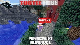 Minecraft Survival 77 - A Bridge and a Building