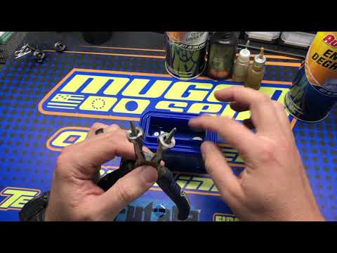 Adam Drake from Mugen Seiki Racing talks about cleaning and servicing NMB bearings.