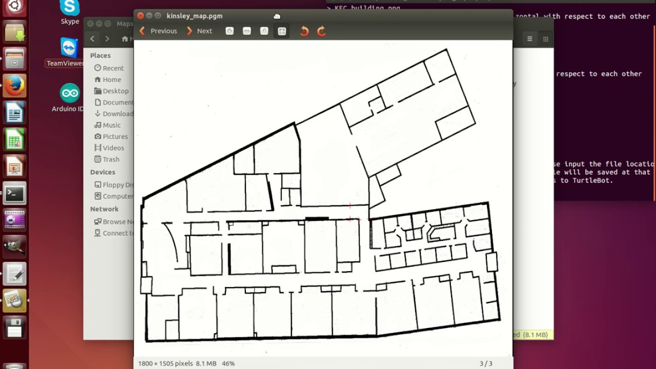 How to create a ROS map using a buildings floorplan