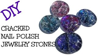 DIY Cracked Marble Nail Polish Jewelry Stones Craft Klatch Jewelry Series
