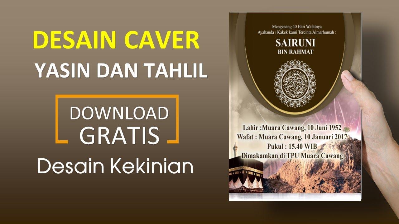 Download desain cover yasin corel