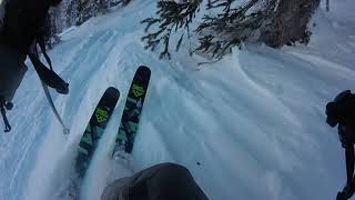 Skiing POV of Upper East Face Park City Resort off 9990 lift