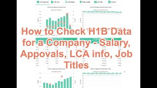 How to check H1B Visa Data for a Company - Salary, Approvals, LCAs, Job Titles