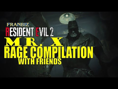 Mr X Rage Compilation With Friends (Resident Evil 2)