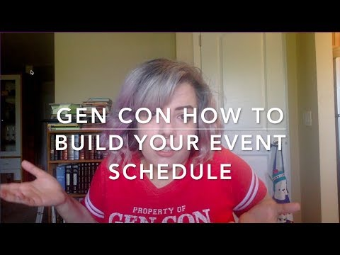 Gen Con How To: Build Your Event Schedule