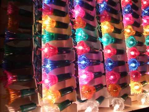 1971 Drape a Lite Set of Christmas lights - YouTube