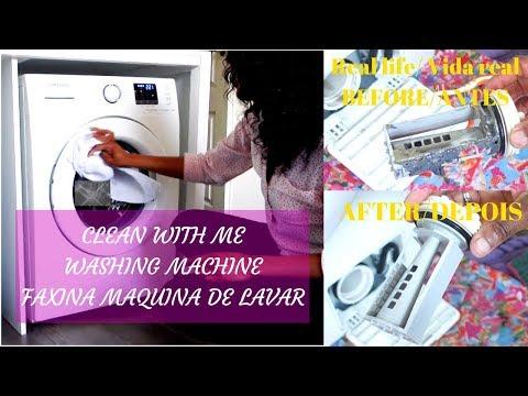 HOW TO CLEAN A WASHING MACHINE with BAKING SODA & VINEGAR/limpeza MAQUINA de roupa/SAMSUNG