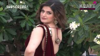 Zarine Khan Wearing 'Chokee' Saree Collection by Archana Kocchar