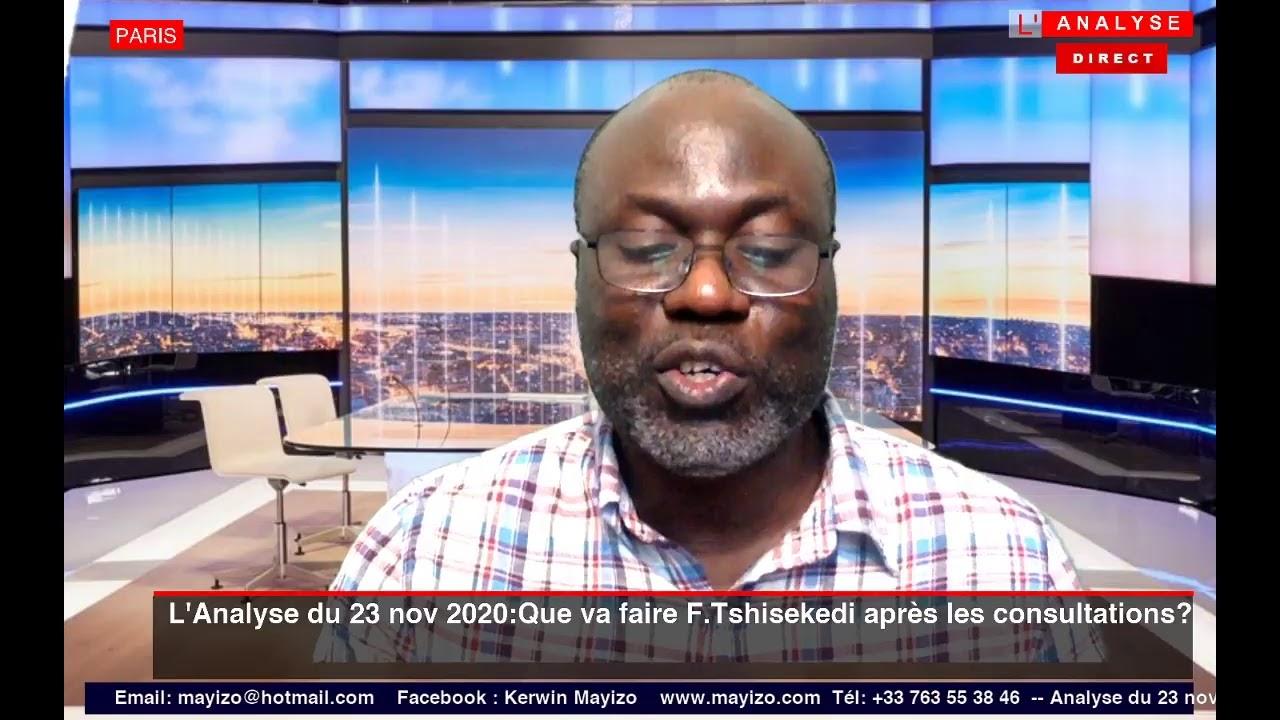 L'Analyse du 23 novembre 2020:Après la fin des consultations nationales, que va faire F.Tshisekedi?