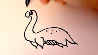 How to Draw a Cartoon Sea Dinosaur