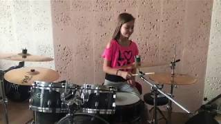 The Sixsters - Сумую - Drum cover by Kate Kuziakina, 10 y.o. girl drummer